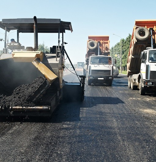 Asphalt pavement works and machinery